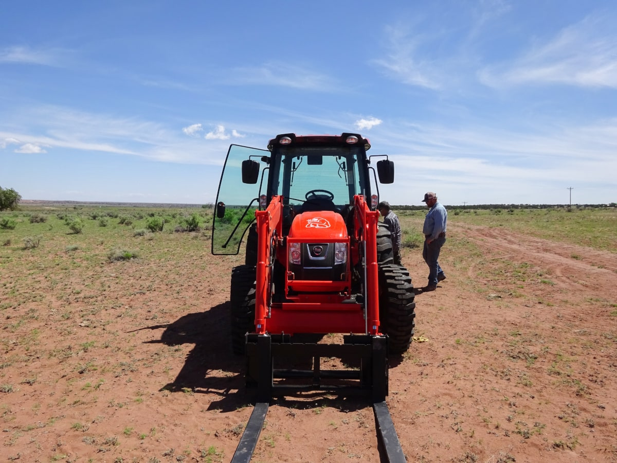 Gorilla FarmCo tractor at our 1500+ acre hemp farm in Arizona